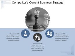 Competitors Current Business Strategy Powerpoint Slide Clipart