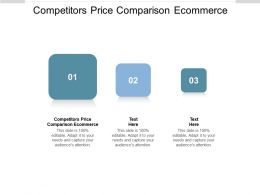 Competitors Price Comparison Ecommerce Ppt Powerpoint Presentation Portfolio Slides Cpb