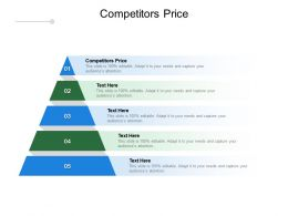 Competitors Price Ppt Powerpoint Presentation Slides Design Templates Cpb