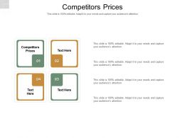 Competitors Prices Ppt Powerpoint Presentation Model Cpb