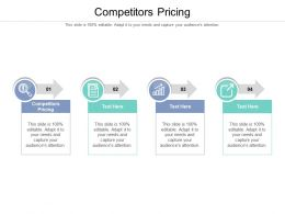 Competitors Pricing Ppt Powerpoint Presentation Pictures Templates Cpb