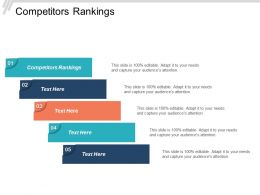 Competitors Rankings Ppt Powerpoint Presentation File Rules Cpb
