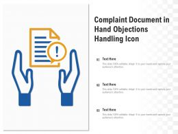 Complaint Document In Hand Objections Handling Icon