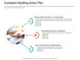 Complaint Handling Action Plan Automation Compliant Management Ppt Clipart
