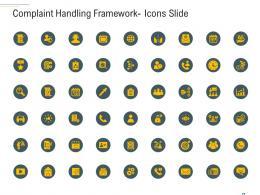 Complaint Handling Framework Icons Slide Ppt Demonstration