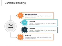 Complaint Handling Ppt Powerpoint Presentation Infographic Template Objects Cpb