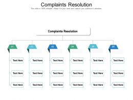 Complaints Resolution Ppt Powerpoint Presentation Infographic Template Graphics Template Cpb