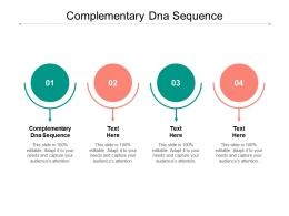 Complementary Dna Sequence Ppt Powerpoint Presentation Infographics Show Cpb