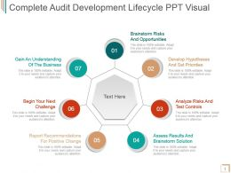 Complete Audit Development Lifecycle Ppt Visual