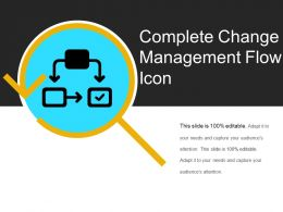 Complete Change Management Flow Icon