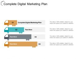 Complete Digital Marketing Plan Ppt Powerpoint Presentation File Samples Cpb