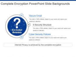 Complete Encryption Powerpoint Slide Backgrounds