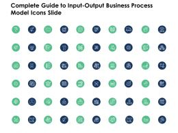 Complete Guide To Input Output Business Process Model Icons Slide Ppt Powerpoint Presentation Template