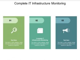 Complete IT Infrastructure Monitoring Ppt Powerpoint Presentation Summary Cpb