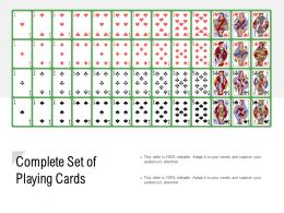 Complete Set Of Playing Cards