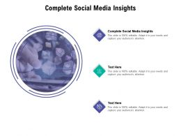 Complete Social Media Insights Ppt Powerpoint Presentation Outline Mockup Cpb
