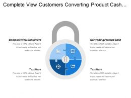 Complete View Customers Converting Product Cash Fragmented Approach Selling