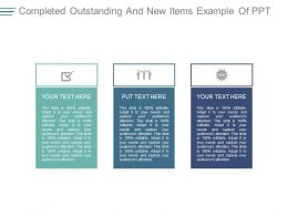 Completed Outstanding And New Items Example Of Ppt