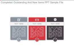 Completed Outstanding And New Items Ppt Sample File
