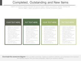 completed_outstanding_and_new_items_ppt_slides_Slide01