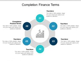 Completion Finance Terms Ppt Powerpoint Presentation Pictures Maker Cpb