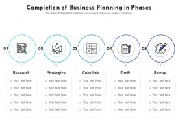 Completion Of Business Planning In Phases