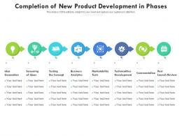 Completion Of New Product Development In Phases