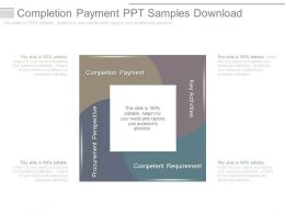 Completion Payment Ppt Samples Download