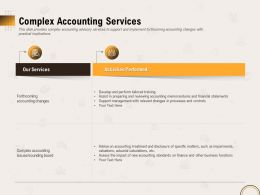 Complex Accounting Services Activities Ppt File Brochure