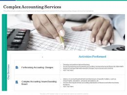 Complex Accounting Services Develop Ppt Powerpoint Presentation Ideas Inspiration