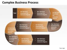 Complex Business Process Powerpoint templates ppt presentation slides 0812