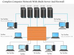 Complex Computer Network With Multi Server And Firewall Ppt Slides