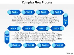 complex flow process powerpoint Slides templates