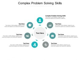 Complex Problem Solving Skills Ppt Powerpoint Presentation Icon Gallery Cpb