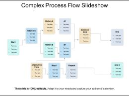 Complex Process Flow Slideshow PPT Presentation Examples