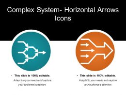 Complex System Horizontal Arrows Icons