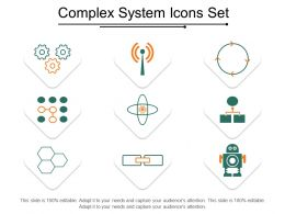 Complex System Icons Set