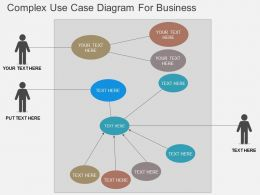 Complex Use Case Diagram For Business Flat Powerpoint Design