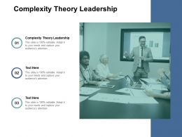 Complexity Theory Leadership Ppt Powerpoint Presentation Ideas Clipart Images Cpb