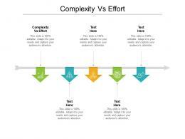 Complexity Vs Effort Ppt Powerpoint Presentation Ideas Graphics Design Cpb