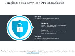 Compliance And Security Icon Ppt Example File