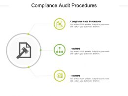 Compliance Audit Procedures Ppt Powerpoint Presentation File Diagrams Cpb