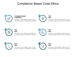 Compliance Based Code Ethics Ppt Powerpoint Presentation Summary Slideshow Cpb