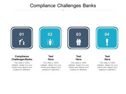 Compliance Challenges Banks Ppt Powerpoint Presentation Ideas Deck Cpb