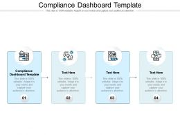 Compliance Dashboard Template Ppt Powerpoint Presentation Infographics Picture Cpb