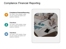 Compliance Financial Reporting Ppt Powerpoint Presentation File Introduction Cpb