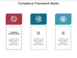 Compliance Framework Banks Ppt Powerpoint Presentation Professional Guide Cpb