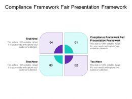 Compliance Framework Fair Presentation Framework Ppt Powerpoint Presentation Outfit Cpb
