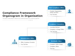Compliance Framework Organogram In Organisation