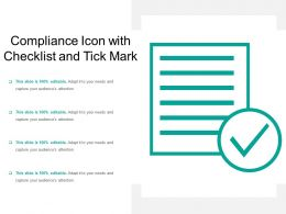 Compliance Icon With Checklist And Tick Mark
